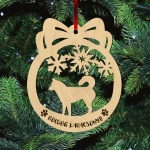 Fa karácsonyfadísz – Huskey