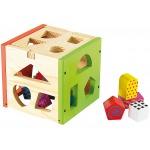 Fa formaválogatós doboz gyerekeknek