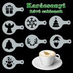 Karácsonyi barista kávé sablonok
