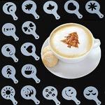 Cappuccino és kávé díszítő sablonok (16db)