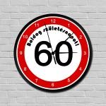Sebességkorlátozós falióra 60. születésnapra