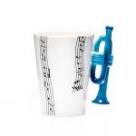 Zenész trombita bögre