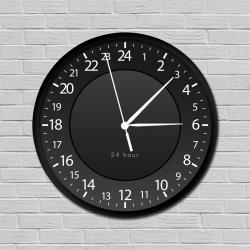 Fekete 24 órás óra