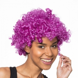 Afro lila party paróka