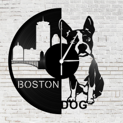 Bakelit óra - Boston Terrier