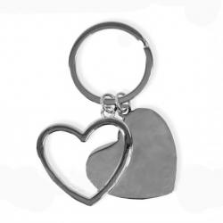 Dupla szív kulcstartó