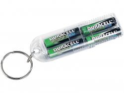Kulcstartós tölthető Duracell 1000 mAh aaa elem 4db