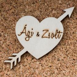 Esküvői köszönőajándék - Nyíllal átszúrt szív