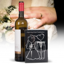 Esküvői bornyitó szett