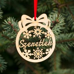 Fa karácsonyfadísz – Szeretlek