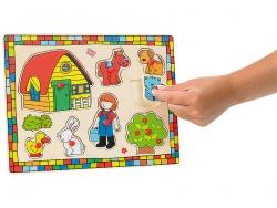 Farm fapuzzle gyerekeknek