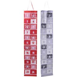 Fali adventi naptár - ezüst