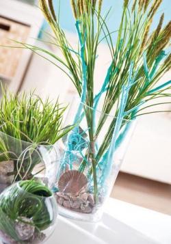 Üveg henger váza 19x30