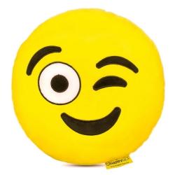 Kacsintós emoji párna
