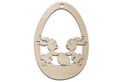 Fa húsvéti dísz - két nyuszi