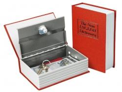 Könyv alakú széf 24cm - piros
