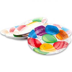 Papír tányér - lufis