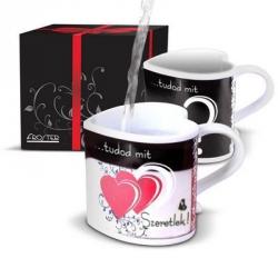 Szív thermo szerelem csésze