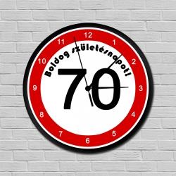 Sebességkorlátozós falióra 70. születésnapra