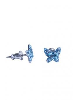 Swarovski lepke köves bedugós fülbevaló - kék