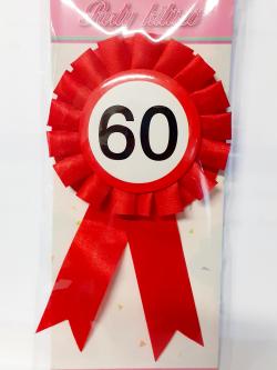 Party kitűző - 60