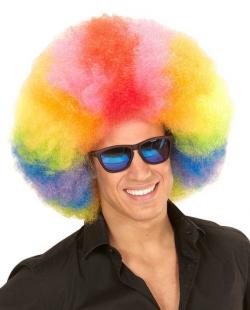 Afro paróka - színes