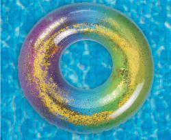 Glitteres úszógumi - 90cm