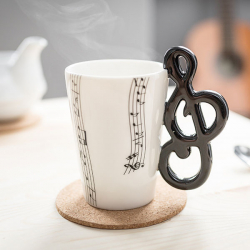 Zenész bögre - hangjegyes