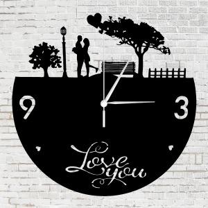 Romantikus szerelmesek bakelit óra