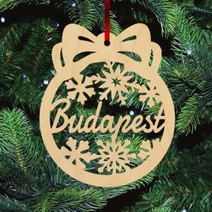 Fa karácsonyfadísz - Budapest