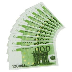 Szalvéta - 100 euro mintával