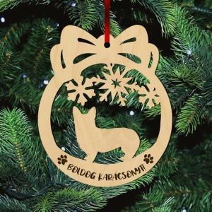 Fa karácsonyfadísz – Corgie