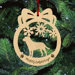 Fa karácsonyfadísz - Labrador