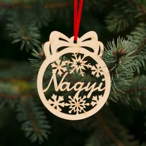 Fa karácsonyfadísz – Nagyi