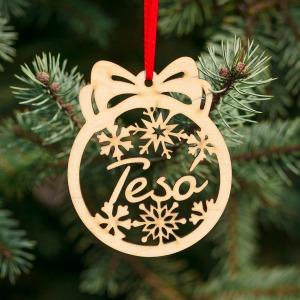 Fa karácsonyfadísz – Tesó