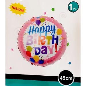 Happy Birthday fólia lufi lányos - 45 cm