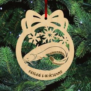 Fa karácsonyfadísz - Harcsa