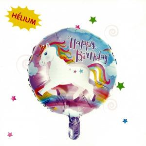 Unikornis Happy Birthday fólia lufi
