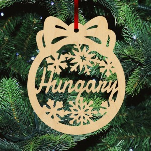 Fa karácsonyfadísz - Hungary