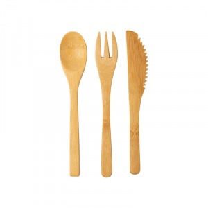 Bambusz evőeszköz készlet