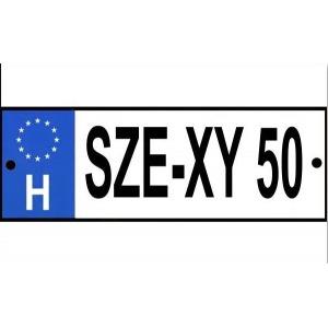 Rendszámtábla Se-xy 50