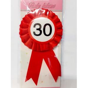Party kitűző - 30
