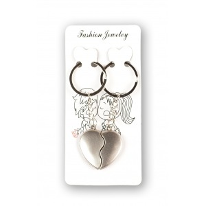 Kulcstartó szív alakú - kettétört szív