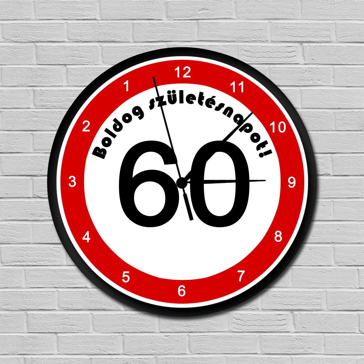 születésnapi ajándék férfiaknak 60 Fiatalító sebességkorlátozós falióra 60. születésnapra | Ajándék  születésnapi ajándék férfiaknak 60