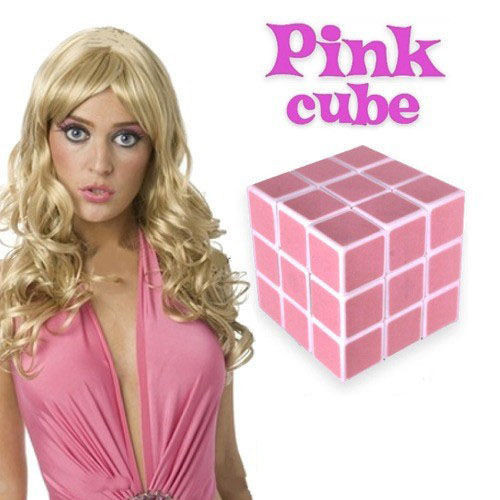 Rózsaszín rubik kocka szőkéknek